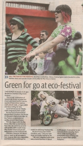 Review of Chorlton's Big Green Festival in the Manchester Evening News