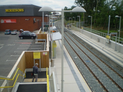 Chorlton Metrolink tram stop at Morrisons