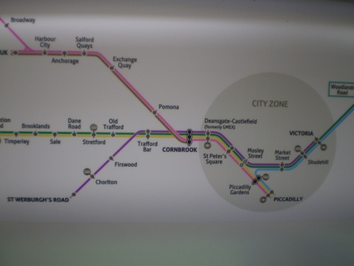 Metrolink tram map for Chorlton and Manchester