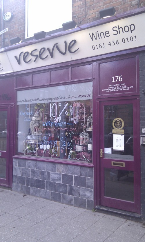 Reserve Wine Shop, 176 Burton Road