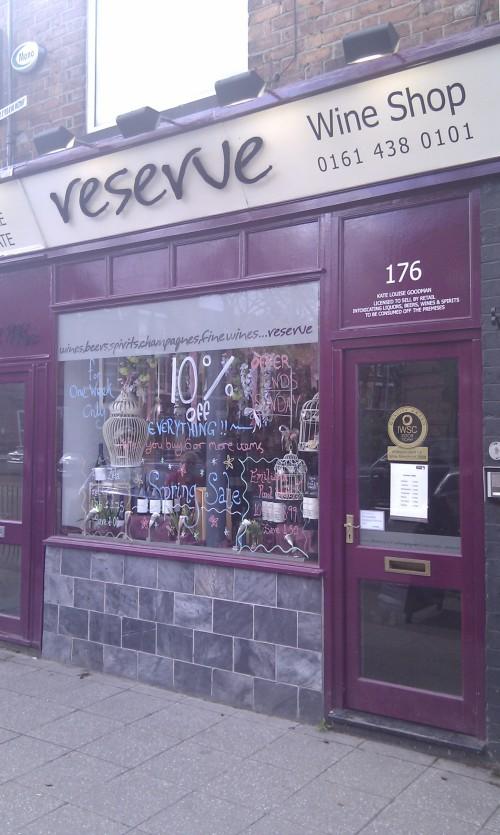 Reserve Wine Shop, 176 Burton Road