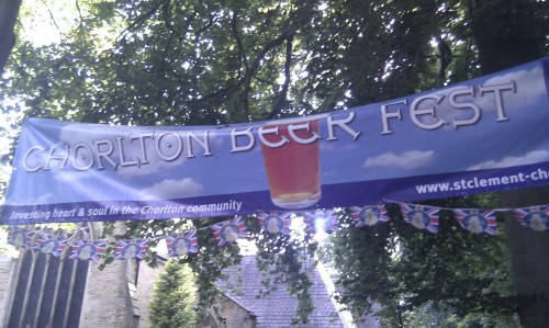 The Chorlton Beer Fest banner