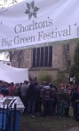 Main entrance to Chorlton's Big Green Festival
