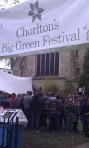 Main entrance to Chorlton's Big Green Festival
