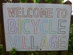 Bicycle Village in Sale - welcome sign