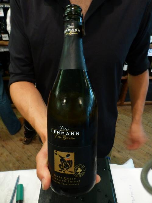 Peter Lehmann Black Queen Shiraz 2008 sparkling red wine bottle