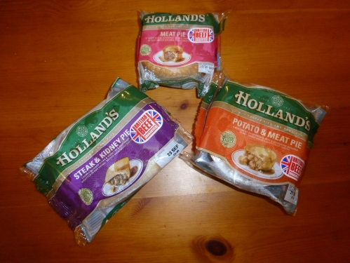 Holland's pies in their packaging