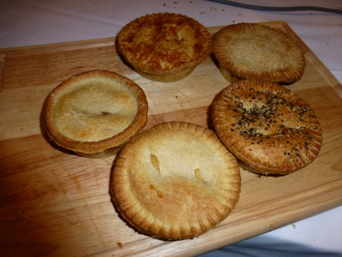Five of the six Holland's pies