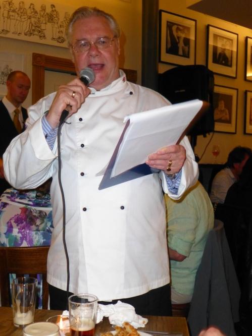 Celebrity pie chef Tom Bridge