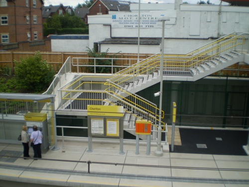 Manchester Metrolink station at Chorlton-cum-Hardy