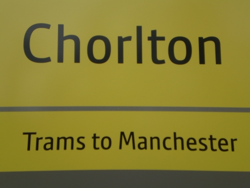 Metrolink sign for Chorlton