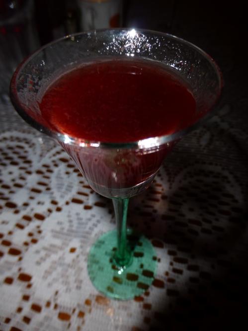 Glass of sloe gin