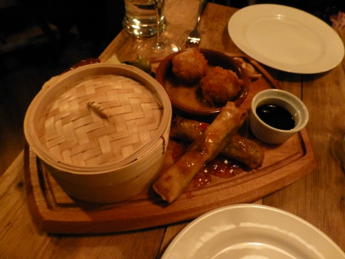 The Cellar Key's taster platter