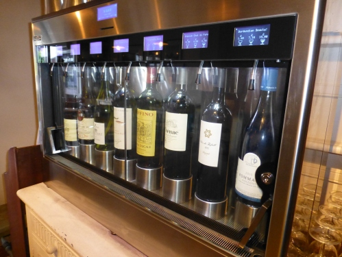 The Cellar Key's wine dispenser