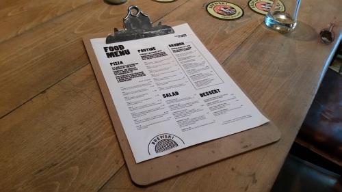 The Brewski bar-restaurant's food menu