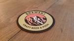 Beer coaster at Brewski bar