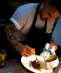 Chef Gary Usher at work in the kitchen