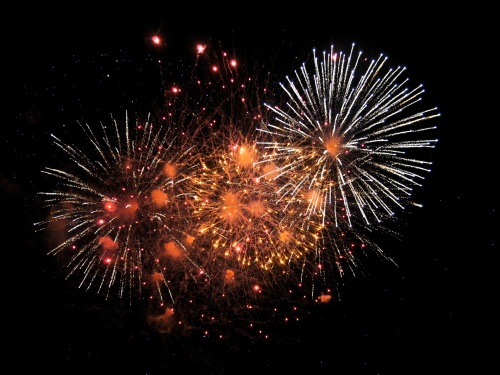 Spectacular fireworks on Bonfire Night
