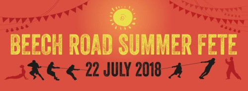 Logo for the Beech Road Summer Fete on 22 July 2018