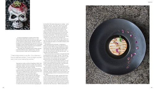 Profile of Mexican celebrity chef Martha Ortiz - pages 5 and 6