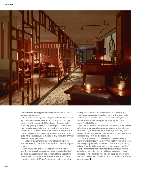 Profile of Mexican celebrity chef Martha Ortiz - pages 1 and 2