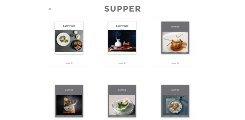 The issue library contains every edition of Supper magazine in full