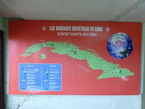 Map of Soviet military units in Cuba during the 1962 Cuban Missile Crisis