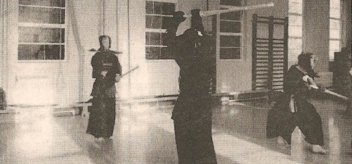 Kendo practice with shinai and body armour at Durham University Kendo Club