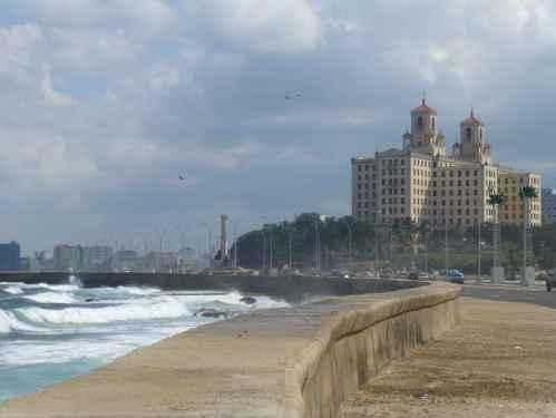 El Malecon in Havana leading up to Hotel Nacional de Cuba