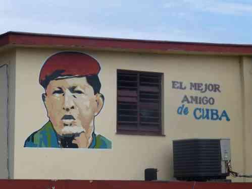 Hugo Chavez is Cuba's best friend, says this wall mural in Havana