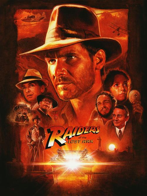 Poster for the Indiana Jones movie Raiders of the Lost Ark