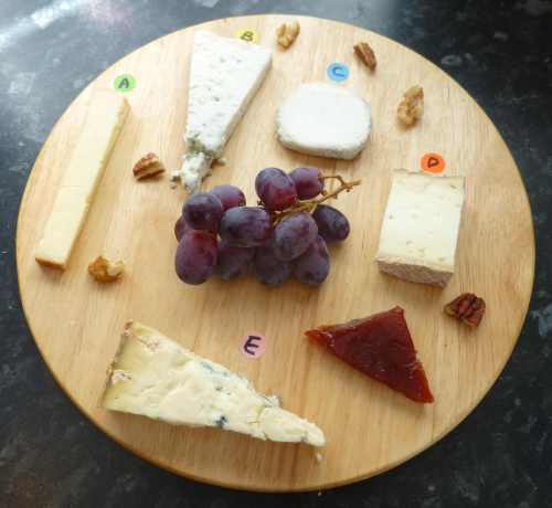 Chorlton Cheesemongers cheeseboard ready to eat